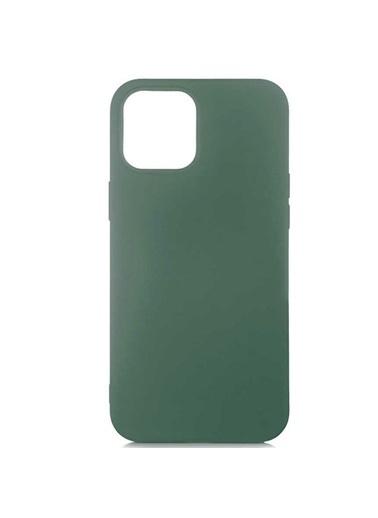 Bludfire Apple iPhone 12 Pro Max Koyu Yeşil Lansman Kılıf Soft İçi Kadife Silikon Lsr Kılıf Haki